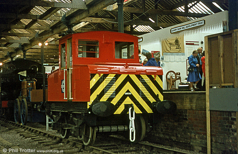 English Electric 4WBE (1378/1944) at Manchester, Liverpool Road Museum on 18th August 1980. The loco once worked for the CEGB at Bolton.