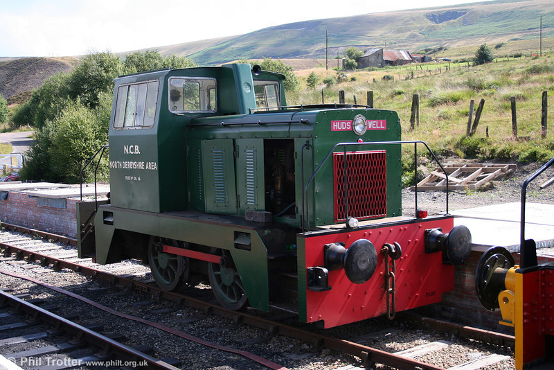 Hudswell Clarke 0-4-0DH (D1387/1967) at the Pontypool & Blaenavon Railway on 26th July 2008. The loco was new to the National Coal Board, Bolsover Colliery, Derbyshire.