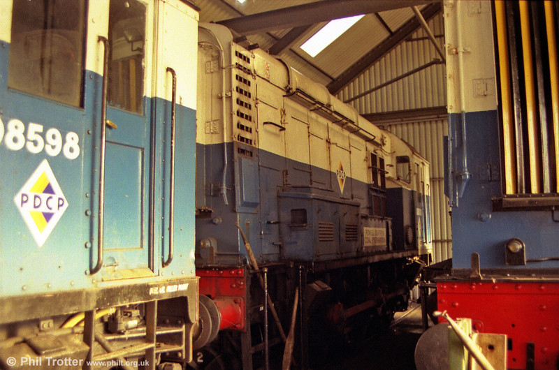 Former 08113 in the shed of the Powell Duffryn washery, Gwaun Cae Gurwen on 10th December 1990.