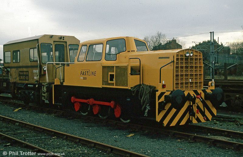 Sentinel 0-6-0DH (10144/1963), ex-Manchester Ship Canal Railway no. 3001 at the Jarvis/Fastline yard, at Leeman Road, York on 6th December 1997.