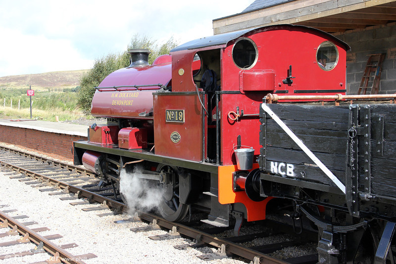 Bagnall 0-4-0ST (2962/1950) 'Devonport Dockyard No.19' at Furnace Sidings with a demonstration coal train on 17th September 2011.