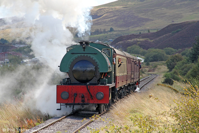 Peckett 0-6-0ST (2150/1954) 'Mardy Monster' approaches Whistle Inn, Pontypool & Blaenavon Railway with the 1248 from Blaenavon High Level on 17th September 2011.