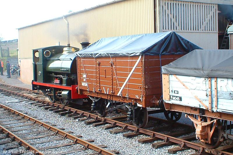 Peckett 0-4-0ST (1788/1929) 'Kilmersdon' in action at Washford, West Somerset Railway on 18th March 2005.