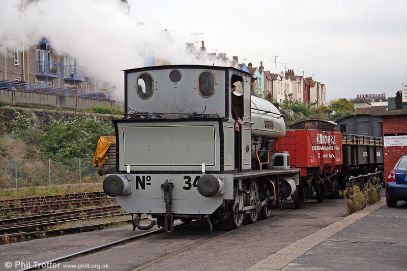 A selection of scenes from the Bristol Harbour Railway (BHR), taken on 1st November 2008. Here, Avonside 0-6-0ST 'Portbury' is seen on the quayside at Wapping Wharf.