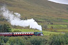 Peckett 0-6-0ST (2150/1954) 'Mardy Monster' heads uphill towards Whistle Inn with the 1348 from Blaenavon High Level on 17th September 2011.