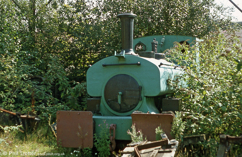 A late survivor of the many locomotives once employed in the metal industries of the Swansea Valley was Andrew Barclay 0-4-0ST 1081/1909 'Leaf' which lay derelict for many years at the premises of John Player & Sons Ltd., Clydach. The foundry and tinplate works was out of use by the 1970s and the loco passed to Kidwelly Industrial Museum in 1984.