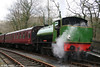 A second view of Vulcan Foundry built Austerity 0-6-0ST 'Haulwen' at Llwyfan Cerrig on 5th April 2008.