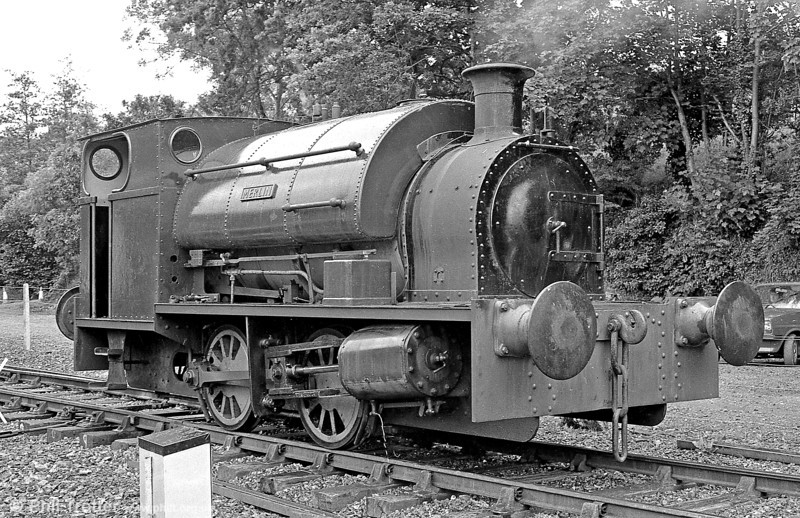 Peckett 0-4-0ST (1967/1939) 'Merlin/Myrrdin' at Bronwydd Arms, Gwili Railway.