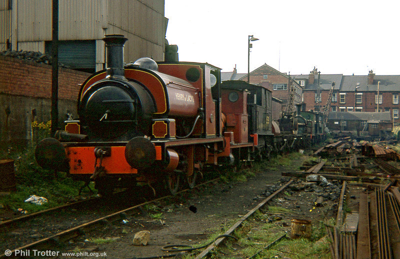Hudswell Clarke 0-4-0ST (1309/1917) 'Henry de Lacy II' at the Middleton Railway, Leeds. The loco was formerly at Kirkstall Forge, Leeds in October 1978.