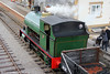 Peckett 0-6-0ST (1859/1932) 'Sir Gomer' at Furnace Sidings with a demonstration coal train on 17th September 2011.
