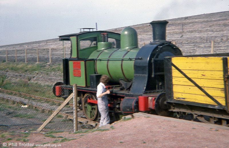 E. Borrows & Son (53/1909) 0-4-0WT no. 53 'Windle' at the Middleton Railway in 1978. The loco once worked at Pilkingtons, St.Helens.
