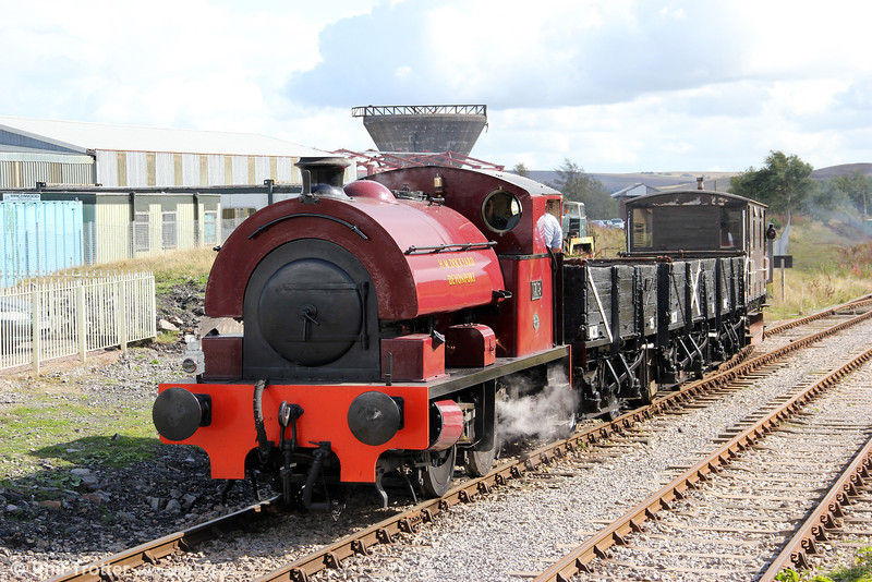 Bagnall 0-4-0ST (2962/1950) 'Devonport Dockyard No.19' at Furnace Sidings propelling the demonstration coal train into the yard on 17th September 2011.