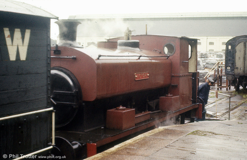Ex Stewarts & Lloyds, Newport, Andrew Barclay 0-4-0ST 2201/1945 at the former Caerphilly steam centre on 25th August 1979.