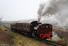P&BR Bagnall 0-4-0ST No. 19 makes easy work of the 1 in 37 gradient towards Whistle Inn on 20th December 2008.