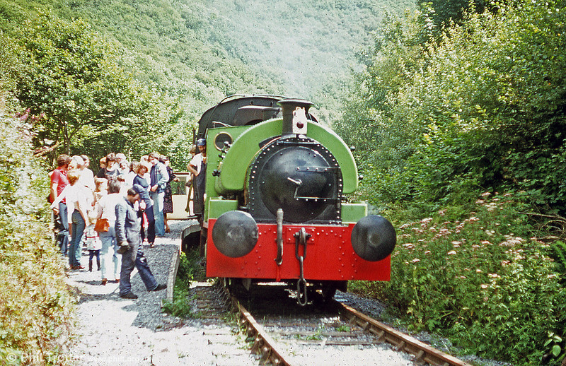 Peckett 0-4-0ST (1967/1939) 'Merlin/Myrrdin' at the Gwili Railway's later Penybont terminus.