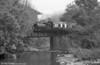 RSH 0-4-0ST 'Olwen' crosses bridge 9 on the approach to Llwyfan Cerrig in 1988.