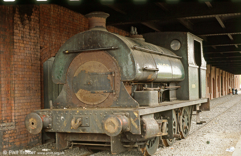 A second view of former Brynlliw Peckett 0-6-0ST (1426/1916) shortly after it had arrived at Swansea Maritime Museum.