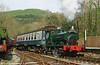 'Rosyth No. 1' arrives at Llwyfan Cerrig, Gwili Railway.