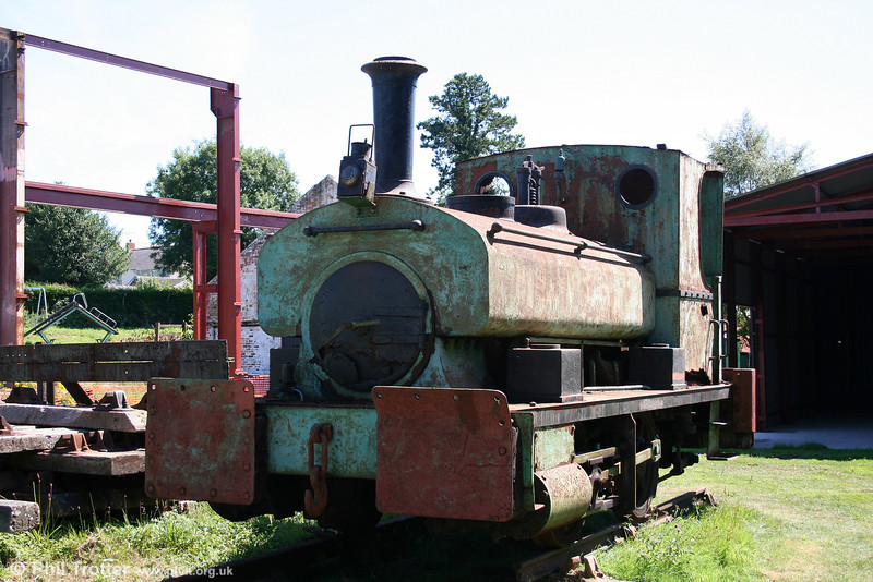 A further view of Andrew Barclay 0-4-0ST 'Leaf', photographed at Kidwelly Industrial Museum on 24th July 2006.