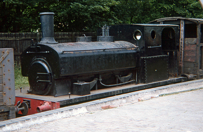 Andrew Barclay 0-6-0ST no. 782 of 1896 at Ironbridge in August 1979.