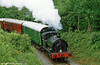 'Olwen' leaves Llwyfan Cerrig, Gwili Railway and approaches Bridge 8 on 11th June 1994.