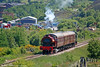 RSH Austerity 0-6-0ST no. 7169 of 1944 heads towards Whistle Inn with the 1400 from Blaenavon, P&BR on 20th June 2010.
