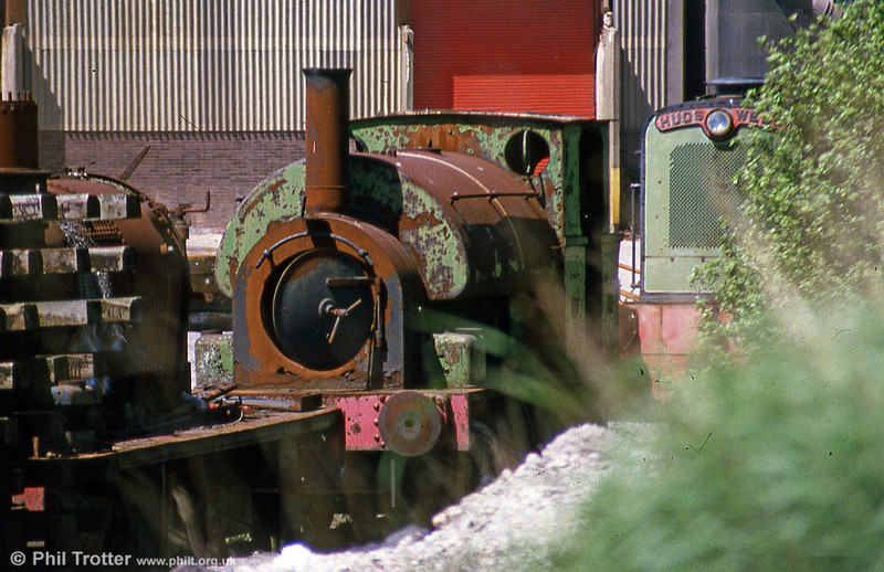 Former NCB Mountain Ash Avonside 0-6-0ST 'Sir John' (AE1680/1914) at the Vale of Neath Railway's base.