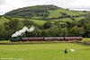 Hudswell Clarke 0-6-0T 'Jennifer' (HC1731/1942) near Cwmdwyfran with the 1450 from Bronwydd Arms, Gwili Railway on 29th August 2011.