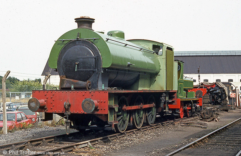 Vulcan Foundry built Austerity 0-6-0ST 'Haulwen' at the premises of the Caerphilly Railway Society in August 1984.