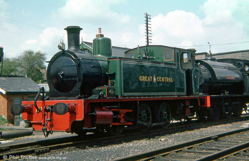 RSH 0-6-0T (6947/1938) no. 39 at Loughborough, Great Central Railway in 1979.