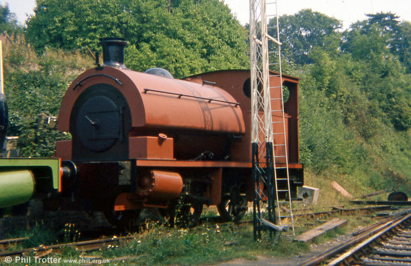 Bagnall 0-4-0ST (2842/1946) at Alresford, Mid Hants Railway on 29th August 1975.