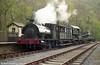 RSH 0-4-0ST no. 7058 'Olwen' with the breakdown train at Llwyfan Cerrig, Gwili Railway.