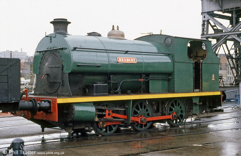 Peckett 0-6-0ST (1940/1937) 'Henbury' at Bristol Harbour Railway in April 1985.