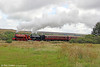 RSH 0-6-0ST (7169/1944) and Vulcan Foundry (5309/1945) 0-6-0ST no.72 climb from Furnace Sidings with the 1210 Blaenavon High Level to Garn yr Erw on 14th September 2013.