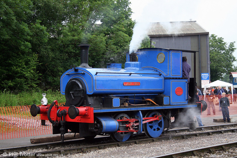 Andrew Barclay 0-4-0ST (1719/1920) 'Lady Nan' in steam at the Cranmore 150 Quarry Gala Weekend, Merehead on 21st June 2008.