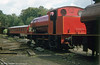 Giesel-fitted Hunslet austerity 0-6-0ST (3698/1950) at the Lakeside & Haverthwaite Railway in September 1978.