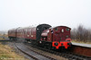The Pontypool & Blaenavon Railway has Bagnall 0-4-0ST (2962/1950) No. 19 on loan for an extended period. It is seen arriving at Furnace Sidings with a 'Santa Special' from Whistle Inn on 20th December 2008.