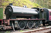 Austerity 0-6-0ST 'Pamela' (HE3840/1956) during its time in store at Llwyfan Cerrig, Gwili Railway.