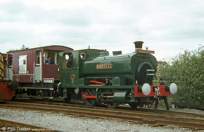 Andrew Barclay 0-4-0ST 'Rosyth No. 1' in steam at the BSC Velindre Works Gala Day, 30th June 1979.