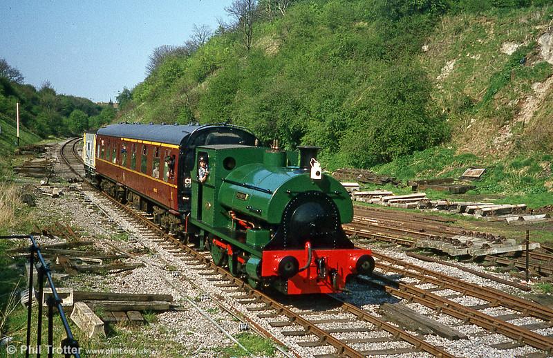 A second shot of former Aberthaw Cement Works Peckett 0-6-0ST (1636/1924) in steam at the Avon Valley Railway, Bristol.