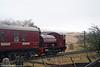 Bagnall 0-4-0ST No. 19 passes Ty Rheinallt Farm, P&BR on 20th December 2008.