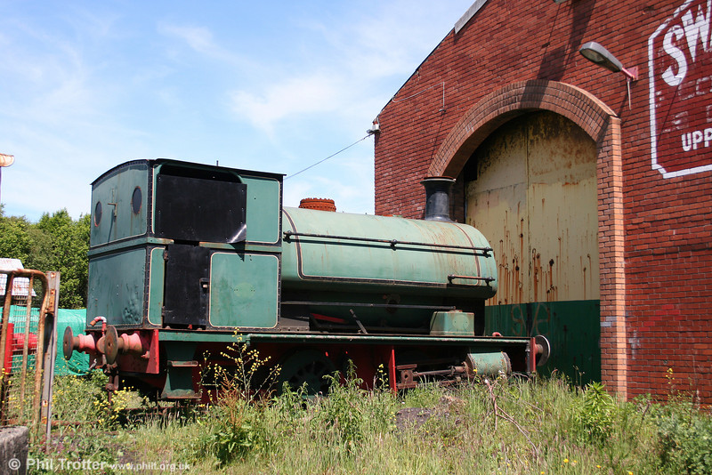 It is doubtful whether the former Mond Peckett 0-4-0ST (1345/1914), will work again in Swansea. Awaiting transfer to another preservation site, the loco is seen at the Swansea Vale Railway on 8th June 2008.