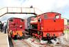 RSH 'Austerity' 0-6-0ST (7169/1944) No.71515 and Bagnall 0-4-0ST (2962/1950) 'Devonport Dockyard No.19' wait at Furnace Sidings, Pontypool & Blaenavon Railway on 17th September 2011.