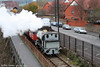 On an extremely blustery 1st November 2008, Avonside 0-6-0ST 'Portbury' heads its train from the 'Create' Centre alongside the New Cut towards the waterfront.