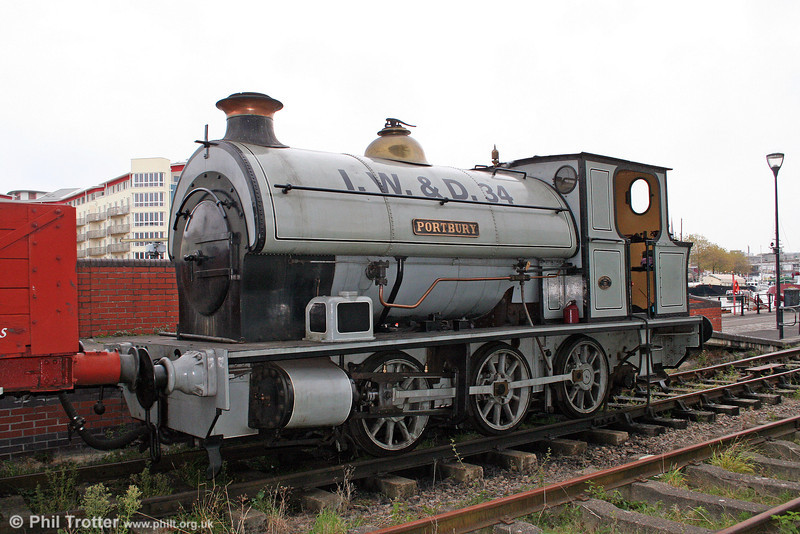 BHR Avonside 0-6-0ST 'Portbury' stands at the SS Great Britain terminus on 1st November 2008. The locomotive was built by the Avonside Engineering Company of Fishponds, Bristol in 1917 and carries works no. 1764.