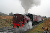 P&BR Bagnall 0-4-0ST No. 19 propels its train away from Furnace Sidings on 20th December 2008. The loco is on hire from the Bodmin & Wenford Railway.
