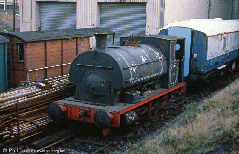 Peckett 0-4-0ST no. 1722/1926 'Rocket' awaiting overhaul at Tyseley. The loco was previously with Courtaulds, Coventry and later moved to the Telford Horsehay Steam Trust.