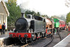 RSH  0-6-0T (7151/1944), Andrew Barclay 'Austerity' 0-6-0ST (2183/1945) 'Earl David' and Fabryka Lokomotymim, Poland (4015/1954) 0-6-0T, 'Karel' pass Bitton with the 1615 Avon Riverside to Oldland Common non-stop train on 19th October 2013.