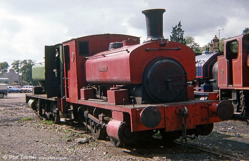 Andrew Barclay 0-4-0ST (929/1902) no. 12 'Alexandra' at the Lakeside & Haverthwaite Railway in September 1978.