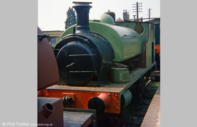 A second view of Hudswell Clarke 0-6-0ST (1544/1924) 'Slough Estates No.3' at Alresford on 29th August 1975.